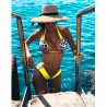 Costum de baie cu slip brazilian doua piese Afri